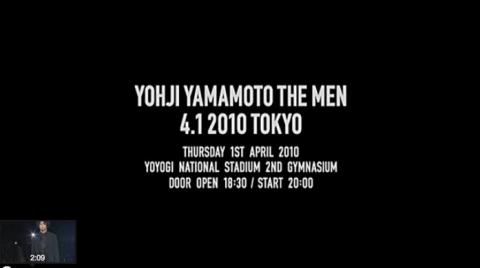 Yohji Yamamoto The Men 4.1 2010 Tokio